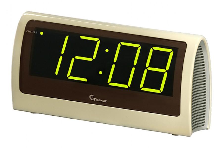 Часы настольные сетевые электронные Гранат Россия ГР0602. Часы будильник, возможная индикация красная